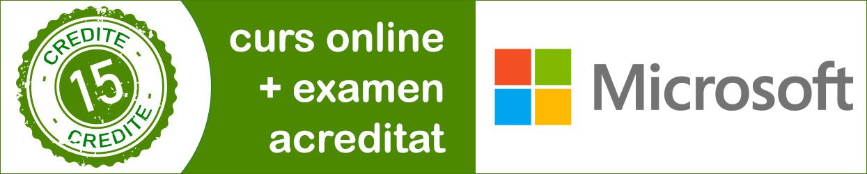 curs online acreditat Microsoft